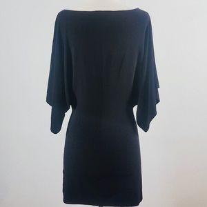 Norma Kamali Black Bodycon Dolman Sleeve Dress